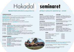 Seminarprogram 2017!